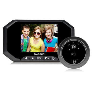 DANMINI YB-30AHD 3.5 Inch Digital Viewer Doorbell Peephole Camera Video Record