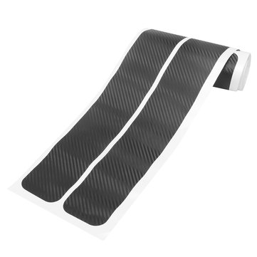 4Pcs 3D Carbon Fiber Pattern Car Door Plate Sill Scuff Cover Anti Scratch Strip Trunk Mat
