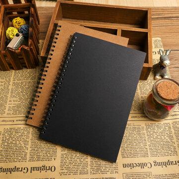 B5 DIY Vintage Kraft Paper Sketchbook Notebook For Painting Drawing Kids Stationery School Supplies