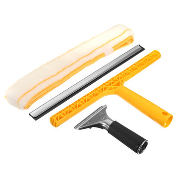Window Squeegee Blade with Cleaner Professional Glass Window Soap Wiper Cleaning Tool