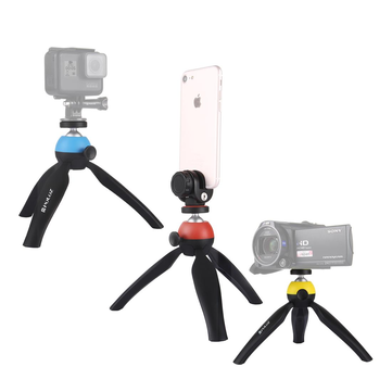 PULUZ PU365 Pocket Mini Tripod Mount with 360 Degree Ball Head Plus Phone Clamp for Smartphones