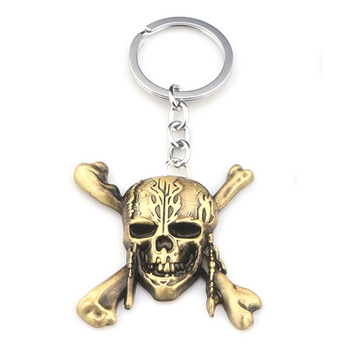 EDC Zinc Alloy Porte-clés Fashion Skull Shape Key Ring Réduire Perdre Cool EDC Gadget