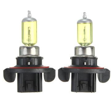 A Pair of H13 60W/55W HID Xenon Light Bulbs Lamps DC12V Yellow 3000K-3500K