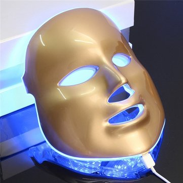 Photon LED Facial Mask Skin Rejuvenation Therapy Face Massage Skin Care 3 Colors Light
