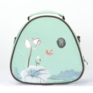 Women Multifunctional Canvas Cosmetic Holder Shoulder Bags Casual Backpack