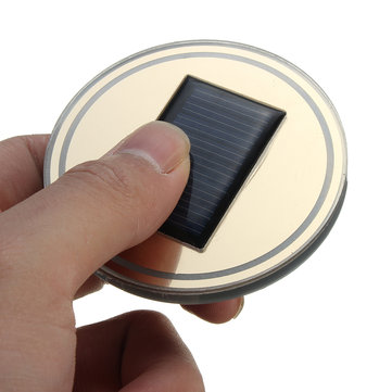 Acrylic Solar Car Cup Holder Bottom Pad Mat LED Light Trim For All Cars