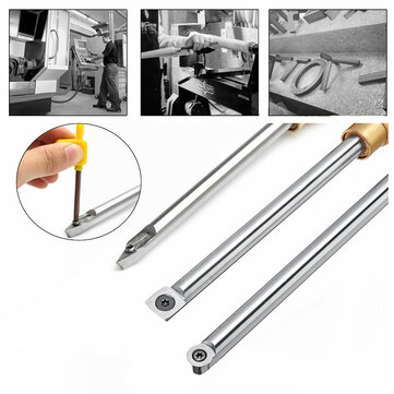 Round Square Diamond Wood Turning Tool Carbide Insert Cutter Tools Straight Multi Bit Lathe Set