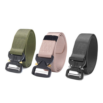 Adjustable Metal Buckle Men Military Tactical Waist Belt Outdoor Rescue Tool Waistband