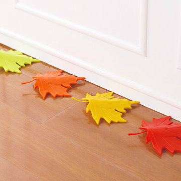 Creative Autumn Maple Leaf Safety Door Stopper Stop Home Door Decoration