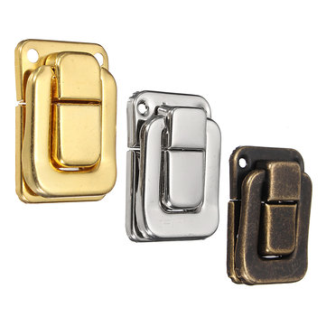 12Pcs Antique Metal Hasp Decorative Jewelry Gift Wine Wooden Box Case Suitcase Toggle Latch 3 Colors