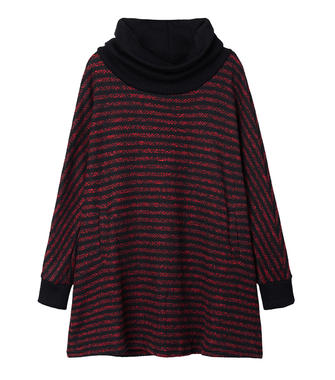 Casual Stripe Patchwork Long Sleeve Knit Sweater