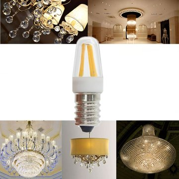 Dimmable Mini 2W E14 LED COB Light Bulb High Power Chandelier Lamp AC220V