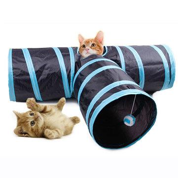 Yani MC-PW1 3 Way Cat Playing Tunnel Creative Pet Cat Floding Decompression Toys