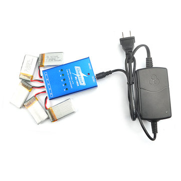Charsoon BC-1S05 5 Port 1S 3.7V 0.5A DC Li-Po Battery Balance Charger with 12V 2A Power Adapter for QX95 QX90