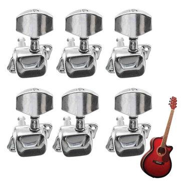 Cuerda de guitarra acústica Semicerrado Tuning Clavijas Tuners Machine Heads 6L Chrome