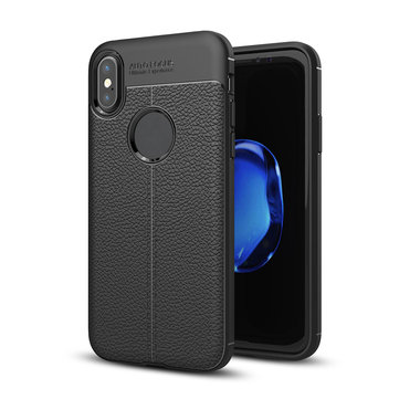 Bakeey™ Custodia Anti Impronte Digitali Copertina in TPU come Buccia di Litchi per iPhone X/7/8/7Plus/8Plus/6Plus/6sP