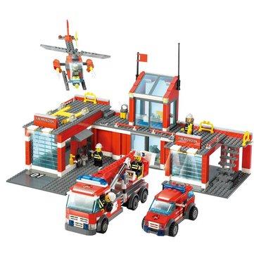 Kazi 8501 Fire Station Building Block Sets Toys Educational Gift Fidget Toys 774Pcs