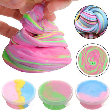 Mixed Colors Cotton Slime Plasticine Candy Butter Mud Playdough 30g 60ml