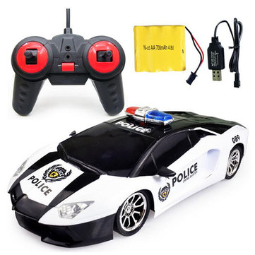Ye Jia Toys 266-5 1/12 Wireless 4CH Simulation Police Rc Car with Front LED Light Model