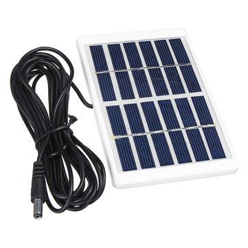 Original El mini panel policristalino portátil Solar de 1.2W 6V con el marco plástico + el cable de interfaz de 5521 DC