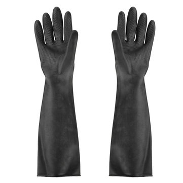 23.5 Inch Rubber Work Gloves Long Protective Industry Anti Chemical Acid Alkali