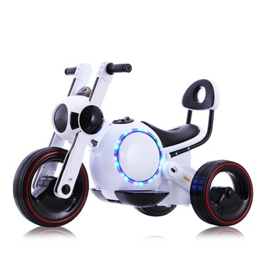 Child Electric Motorcycle Tricycle Baby Scooter Non-slip Protective Design Music LED Lights