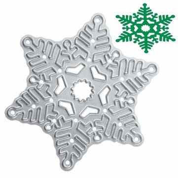 メタルスノーフレーククリスマスカッティングダイスDIYスクラップブックアルバム紙カード装飾ツール