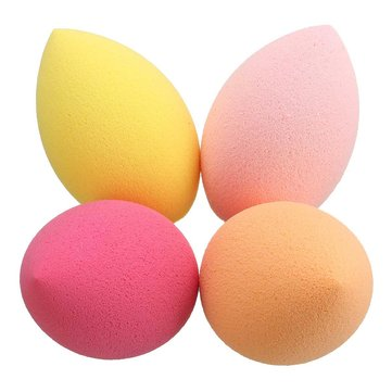 4Pcs Oblique Head Squishy Soft Squishy Makeup Facial Sponge Foundation Powder Puffs