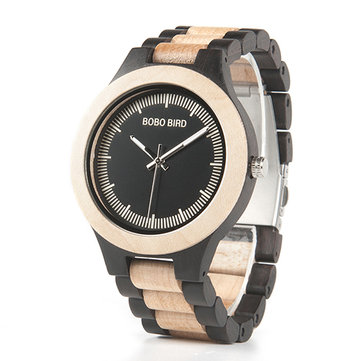 BOBO BIRD L*O01O02 Casual Style Wood Bamboo Creative Watches