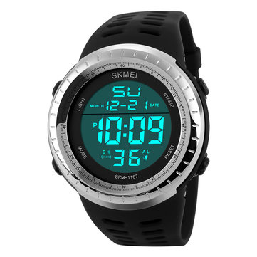 SKMEI 1167 50M Waterproof Sport Watch Casual Style LED Digital Wrist Watch