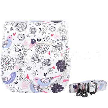 PU Leather Cartoon Camera Case Bag Cover For Fuji Fujifilm Instax Mini8 Strap