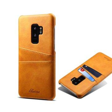 Slot de cartão de couro de vaca Premium Caso Para Samsung Galaxy S9 Plus