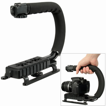 C Shape Hand Stand Handle Bracket Holder Stabilizer Grip For DSLR Camera Camcorder