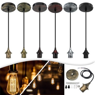E27 Flex Fabric Romantic Pendant Light Holder Fitting Lighting Chandeliers Decoration AC110-220V