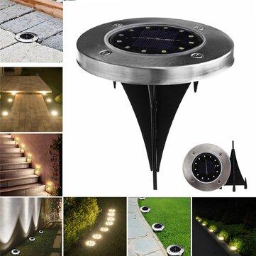 地上ランプ屋外通路のガーデン装飾の下に太陽光発電12 LED埋設光