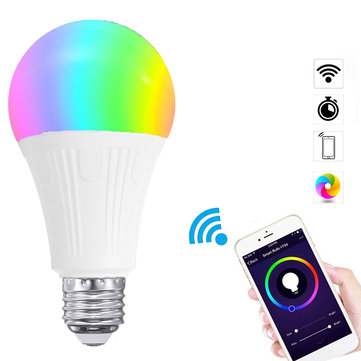 E27 7W RGBW WIFI APP Controlled LED Smart Light Bulb for Echo Alexa Google Home AC100-240V
