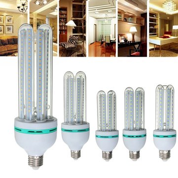 E27 3W-36W AC90-245V U Style LED Ultra Bright Energy Saving White Color Light Bulb