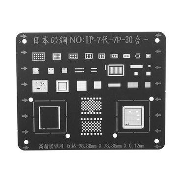 Japan Steel Phone Logic Board BGA Repair Stencil for iPhone 7 7P Motherboard IC Chip Ball Soldering Net