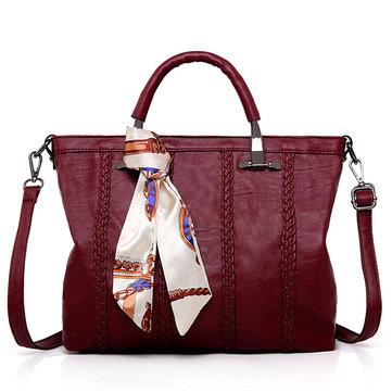 ЖенскоеPUбольшойемкостиToteСумки Concise Handbags
