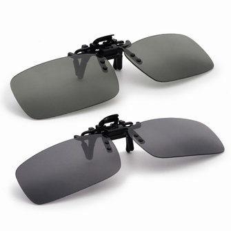 Night Vision Polarized Driving Fishing Glasses Clip On Sun Glassess For Metal Frame
