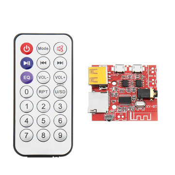 DC 3.7V To 5V Bluetooth 4.1 MP3 WAV Decoder Board 3W Speaker Amplifier Audio Receiver Module Support USB/TF/U-DISK/IR Remote Control