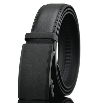 Men Automatic Buckle Leather Tactical Belts Business Alloy buckle Belts Waistband