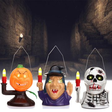 Halloween Party Home Decoration Supplies Portable Luminous Ghost Lamp Toys For Kids Children Gift