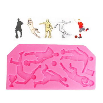 Food Grade Silicone Cake Mold DIY Chocalate Cookies Ice Tray Baking Tool Football Player Shape