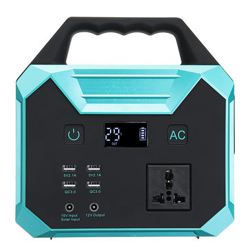 100W 220V 67000mAh 250Wh Energy Storage Portable Power Solar Generator Inverter LCD Display