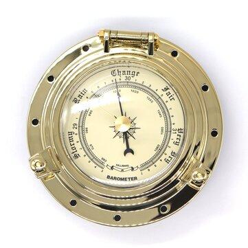 Gold Chrome Roman Vintage Barometer Clock Boat Marine Camper Van Caravan Motorhome RV