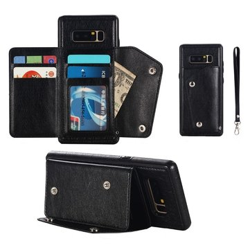 Bakeey Classic PU Leather Wallet Card Slots Bracket Protective Case for Samsung Galaxy Note 8