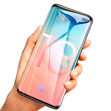2 Packs Kisscase 10D Curved Edge Hydrogel Screen Protector For Samsung Galaxy S10 Plus 6.4 Inch Support Ultrasonic Fingerprint Unlock