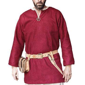 Mens Medieval Vintage Stage Show Tops Shirts