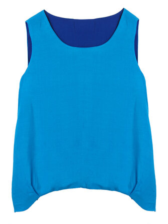 Casual Lady Soft Reversible Layer Solid Sleeveless Tank Tops